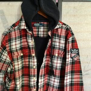 Polo Ralph Lauren Mt Whitney red plaid Hoodie